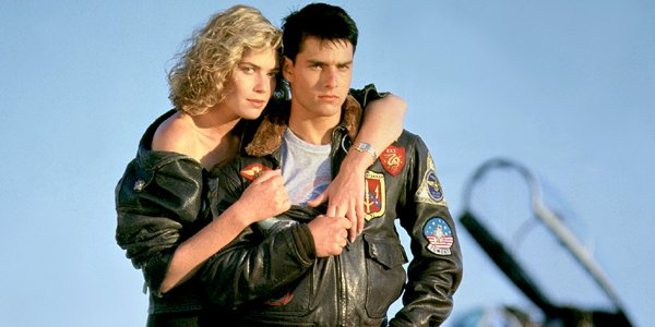 Kelly McGillis and Tom Cruise Top Gun 1986