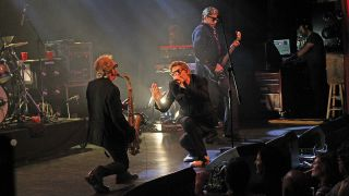 A shot of the psychedelic furs on stage