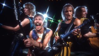 Scorpions onstage, rocking out.