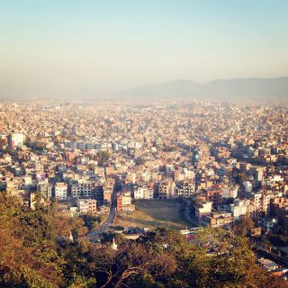 The city of Kathmandu viewed from Swayambhunath Temple. This photo was taken before the 2015 earthquake.