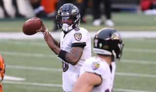 Lamar Jackson hopes to lead the Baltimore Ravens past the Tennessee Titans when they meet in the first round of the NFL playoffs Sunday, Jan. 10.