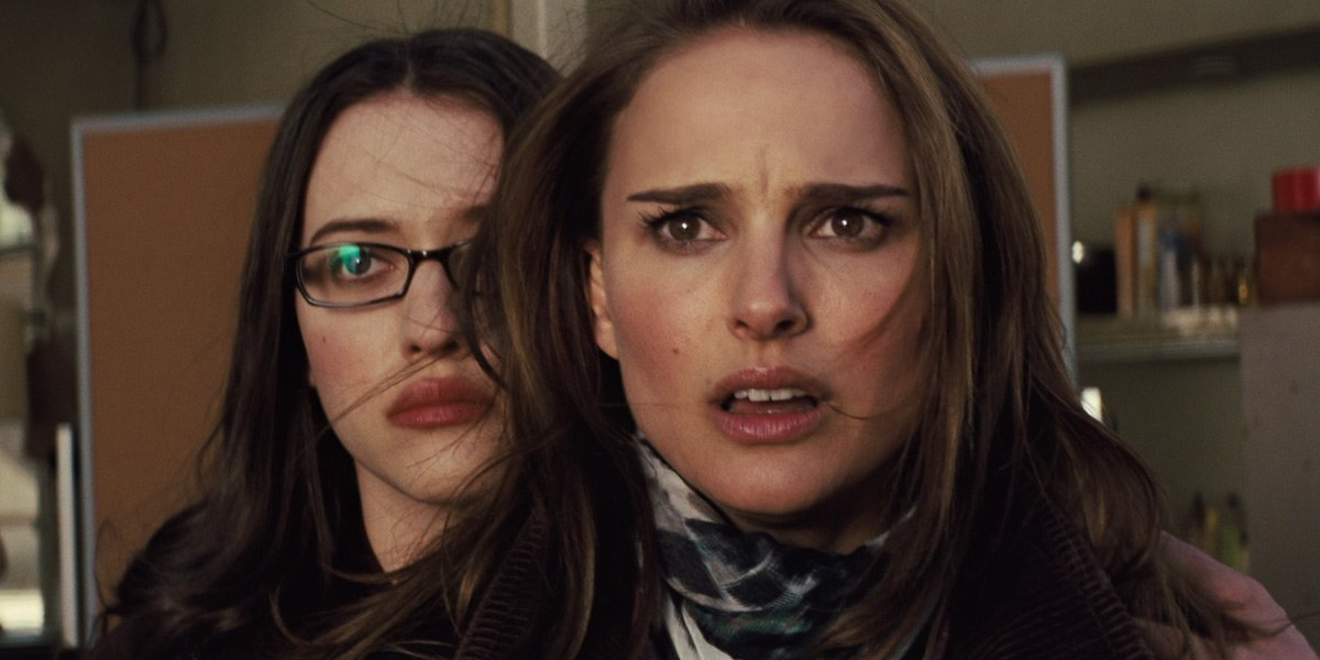 Kat Dennings and Natalie Portman in Thor: Dark World