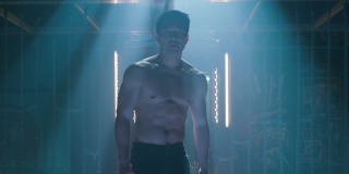 Simu Liu shirtless in Shang-Chi