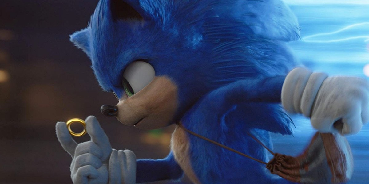 Sonic running with a ring