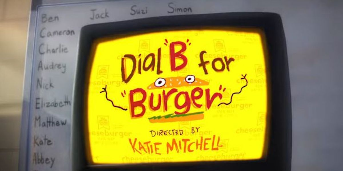 Dial B for Burger short film by Katie Mitchell in The Mitchells vs. the Machines