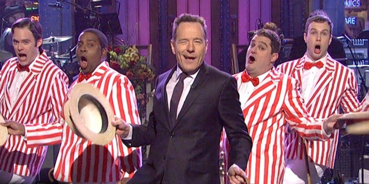 Bryan Cranston hosting Saturday Night Live