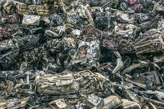 Each year the U.S. produces hundreds of millions of tons of metal scrap like this (shown here, the PSC Metals scrapyard in Nashville).