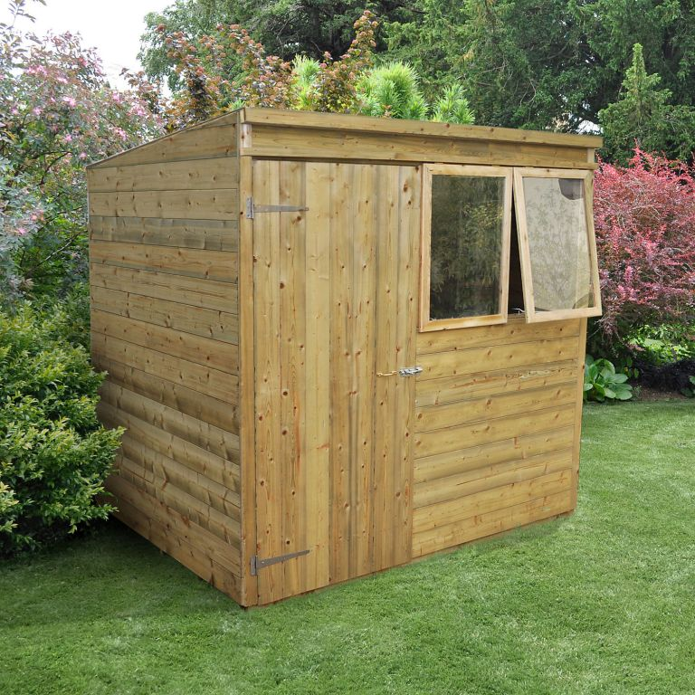 Garden sheds: the best B&Q shed: 7x5 Forest Pent Tongue & groove Wooden Shed