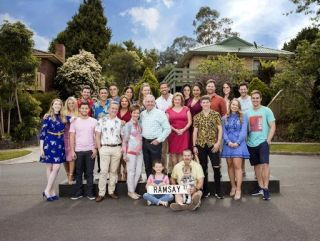 Is Lassiters a real hotel in Neighbours? Neighbours cast group shot