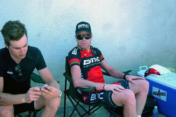 Cadel Evans and Taylor Phinney, Tour of Oman 2013