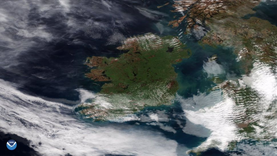Celebrate St. Patrick's Day 2021 with this verdant view of Ireland from space