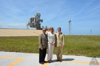 Officials at Kennedy's Launch Pad 39A