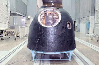 Russia's Soyuz TMA-19M descent module