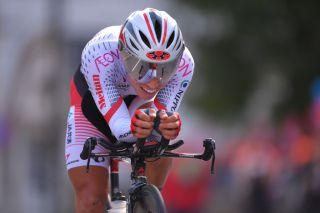 Atsushi Oka racing in the U23 World Championships for Japan in 2017