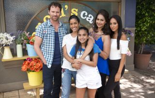 Yashvi Rebecchi and the Rebbechi family in Neighbours