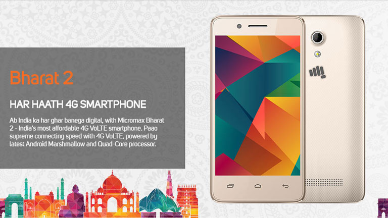 1806ec4ac Vodafone and Micromax launch Bharat 2 Ultra Android smartphone at Rs. 999