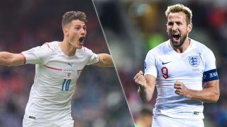 Czech Republic vs England live stream at Euro 2020 — Patrik Schick of Czech Republic and Harry Kane of England