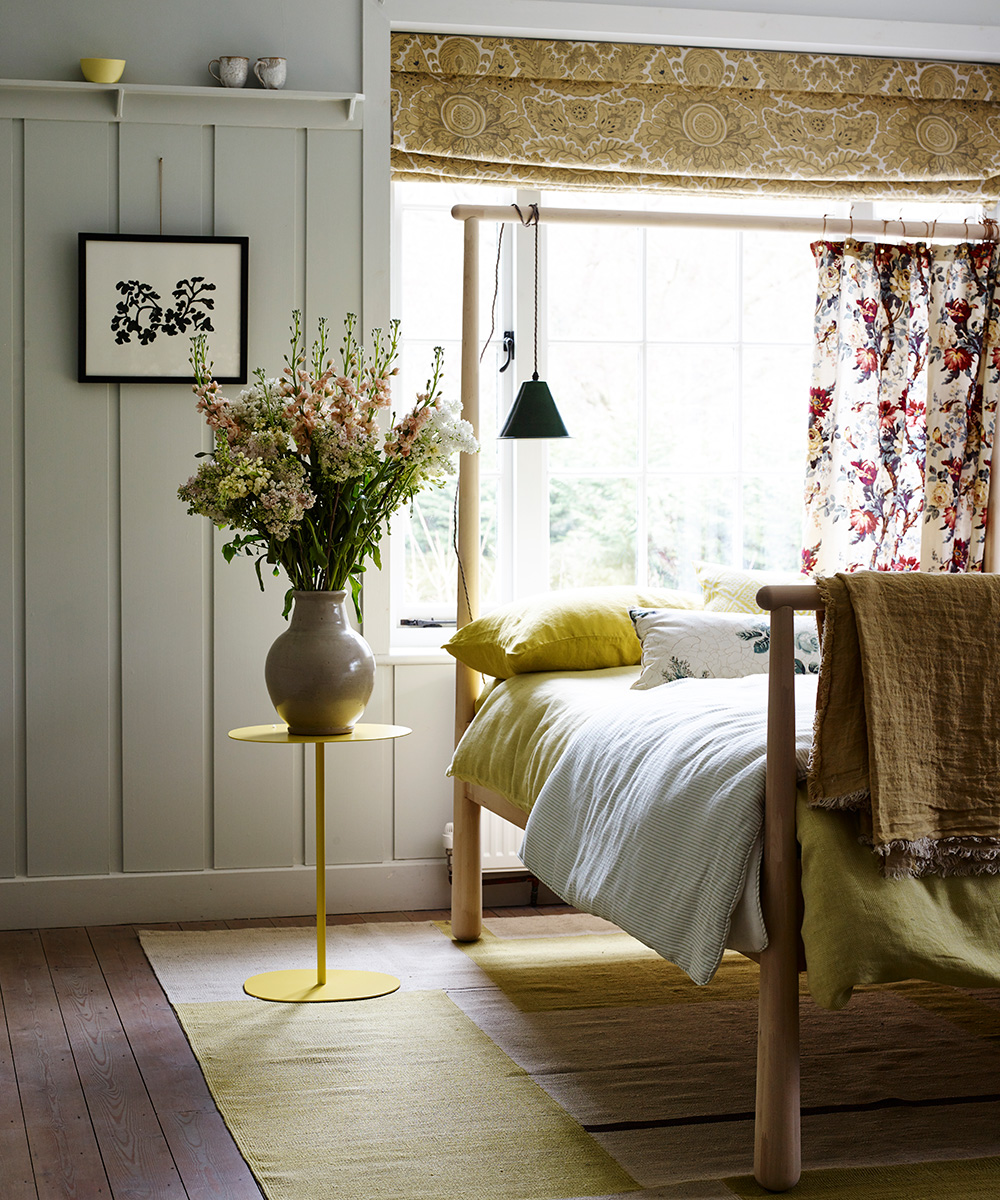 Relaxed bedroom with horticulturally themed decorative flourishes | Homes & Gardens