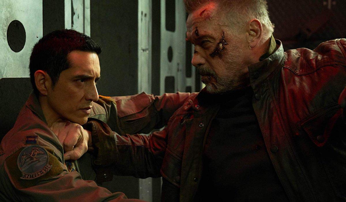 Terminator: Dark Fate Carl and the Rev-9 locked in combat