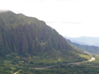 The volcanic peaks of Oahu are slowly disintegrating from the inside.