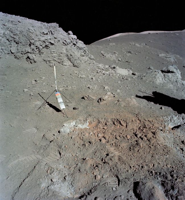 Strange orange soil was discovered on the moon by the Apollo 17 mission in 1972.