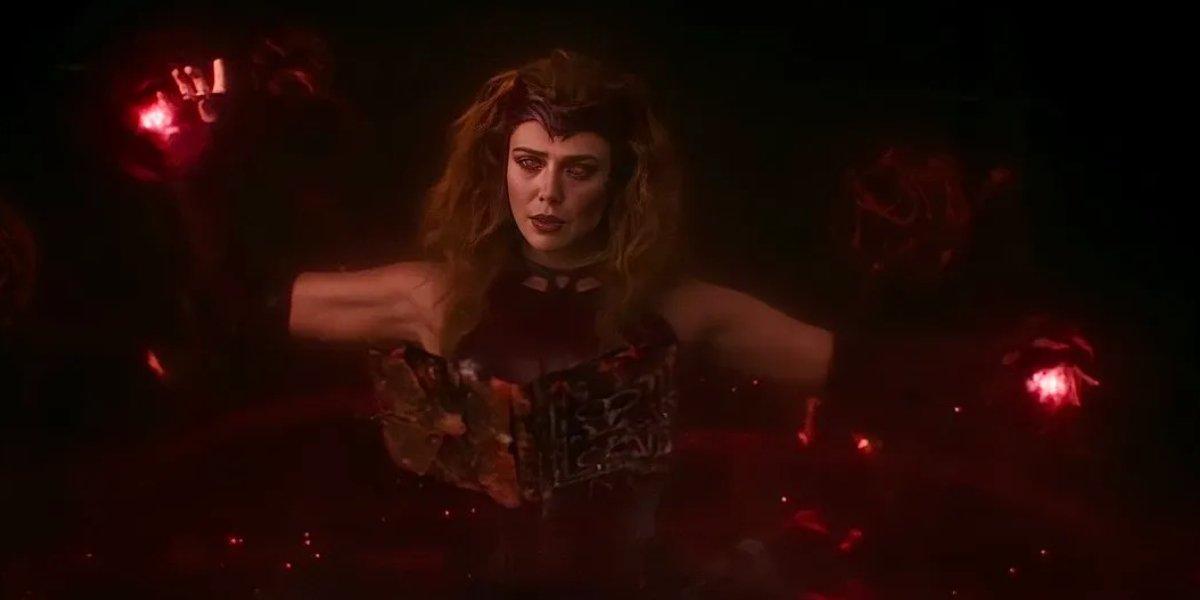 Elizabeth Olsen as Scarlet Witch on WandaVision