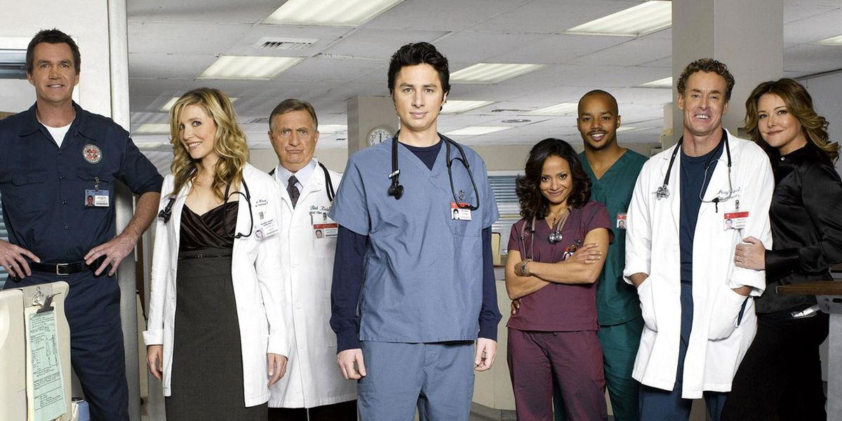 The main cast of Scrubs.