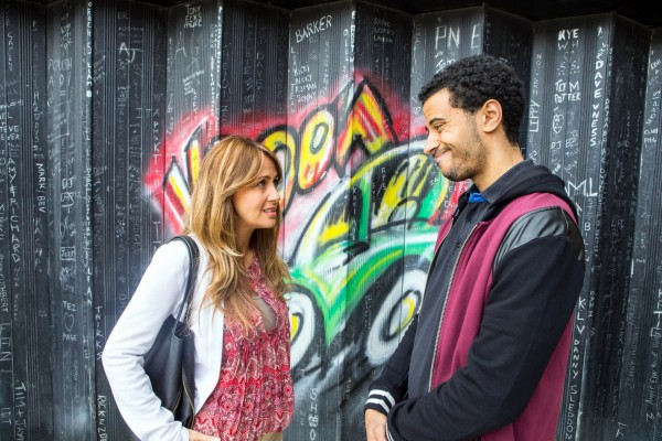 Corrie's Maria Connor, played by Samia Ghadie and Luke Britton, played by Dean Fagan