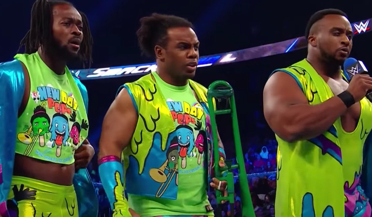 New Day antagonizing The Usos SmackDown