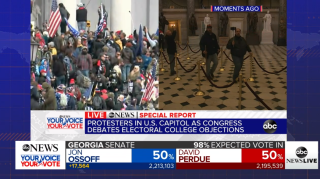 ABCNews chronicles protest of presidential elector vote count