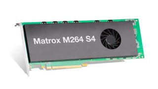 The Matrox M264 S4 card supports up to four channels of 4K Sony XAVC and Panasonic AVC-ULTRA encoding/decoding in a single-slot card to enable high-density, multi-channel 4K workflows in PC-based platforms.