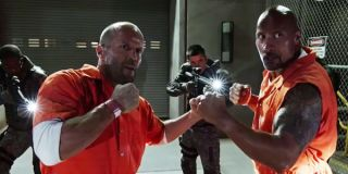 The rock and jason statham Fate of the Furious