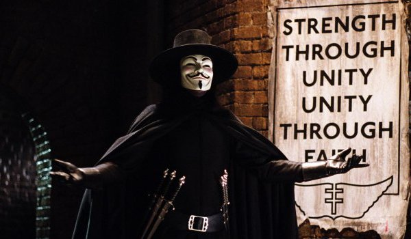 V For Vendetta V's alleyway speech