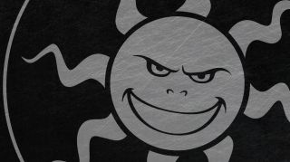 The Starbreeze studios logo, a sinister star that looks more like a sun.