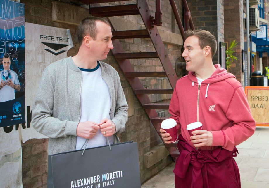 Kirk and Tyrone in Coronation Street
