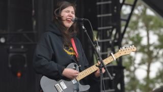 Lucy Dacus performs onstage during day four at Okeechobee Music & Arts Festival at Sunshine Grove on March 8, 2020 in Okeechobee, Florida.