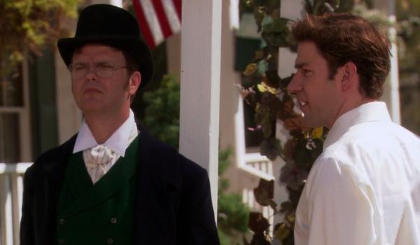 The Office Rainn Wilson in a top hat