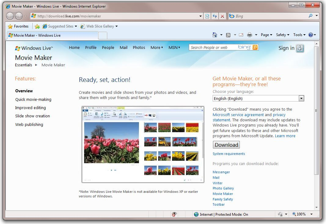 where to download windows live movie maker