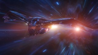 Does space travel in the MCU make any sense? image shows Marvel space ship