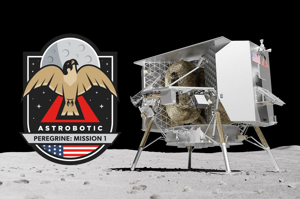 Astrobotic reveals mission patch for first commercial moon landing
