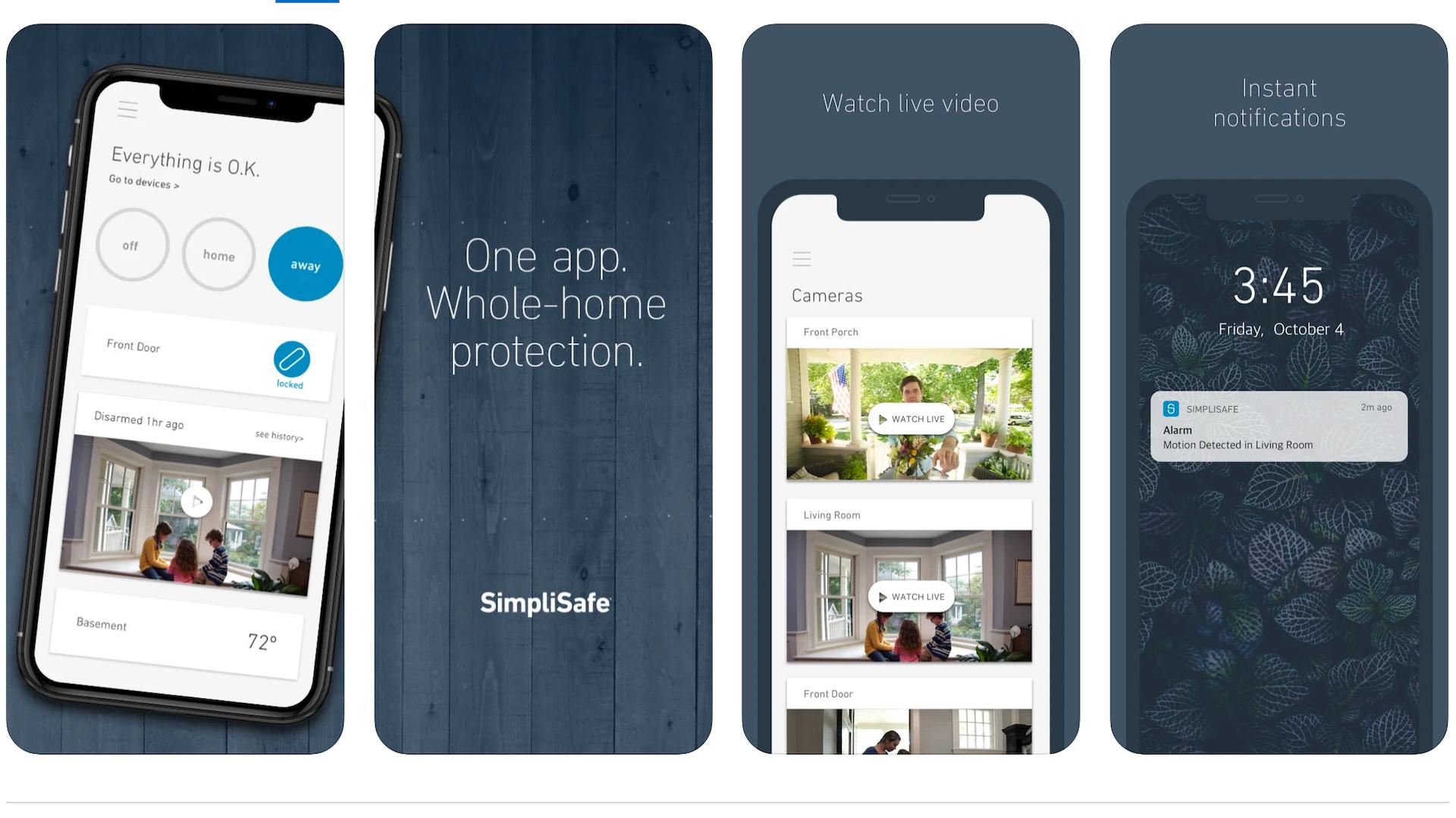 SimpliSafe iOS app