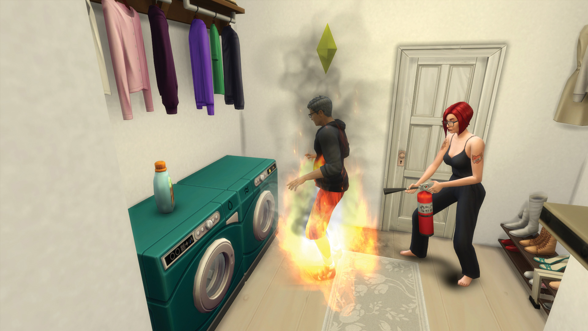 Laundry was the best and worst thing to happen to The Sims