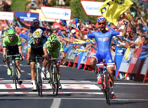 Nacer Bouhanni wins stage two of the 2014 Tour of Spain