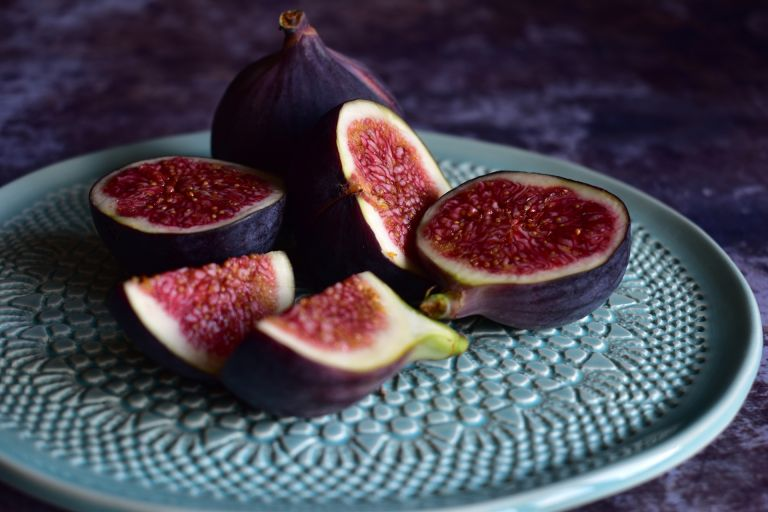 How to prune a fig tree Close up of figs on decorative plate