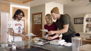 Pictured: Dave Grohl, Christine Reynolds and Dan Reynolds