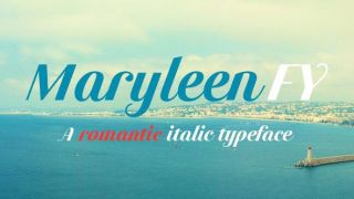 best italic fonts: Maryleen FC