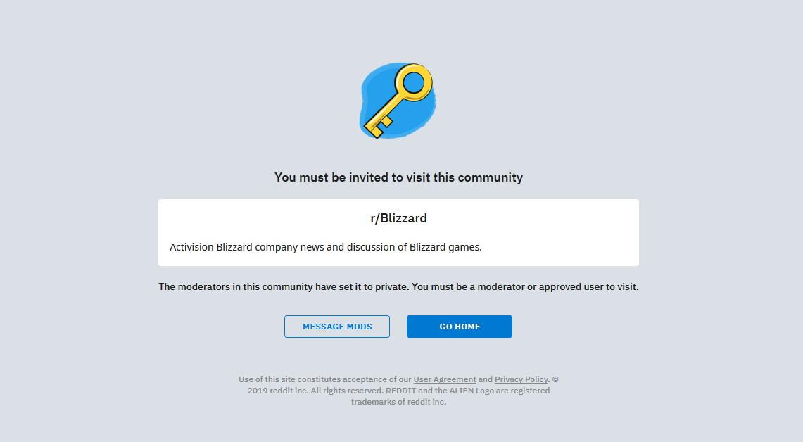 Blizzard subreddit goes private in the wake of Blitzchung backlash | PC Gamer