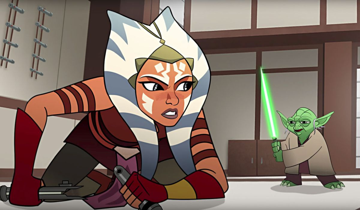 Ahsoka and Yoda in Star Wars Forces of Destiny