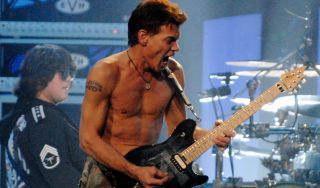 Eddie Van Halen performs with Van Halen in 2007