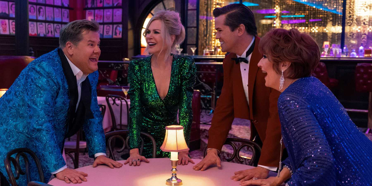 James Corden, Nicole Kidman, Andrew Rannells, and Meryl Streep in The Prom